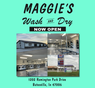 Maggie's Wash and Dry OPEN 24 HOURS 1202 Remington Place Batesville,IN 47006