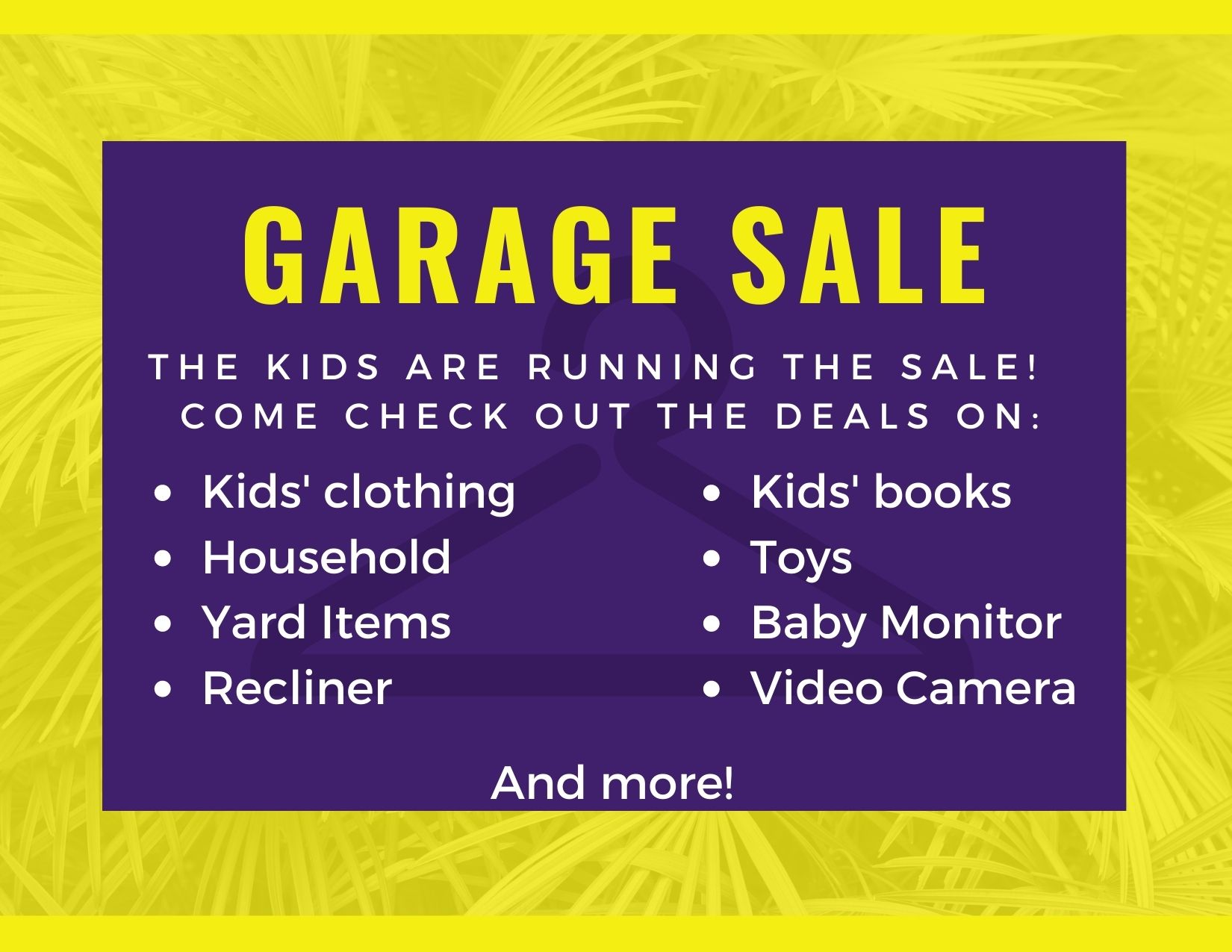 The Kids are running the sale! (1)