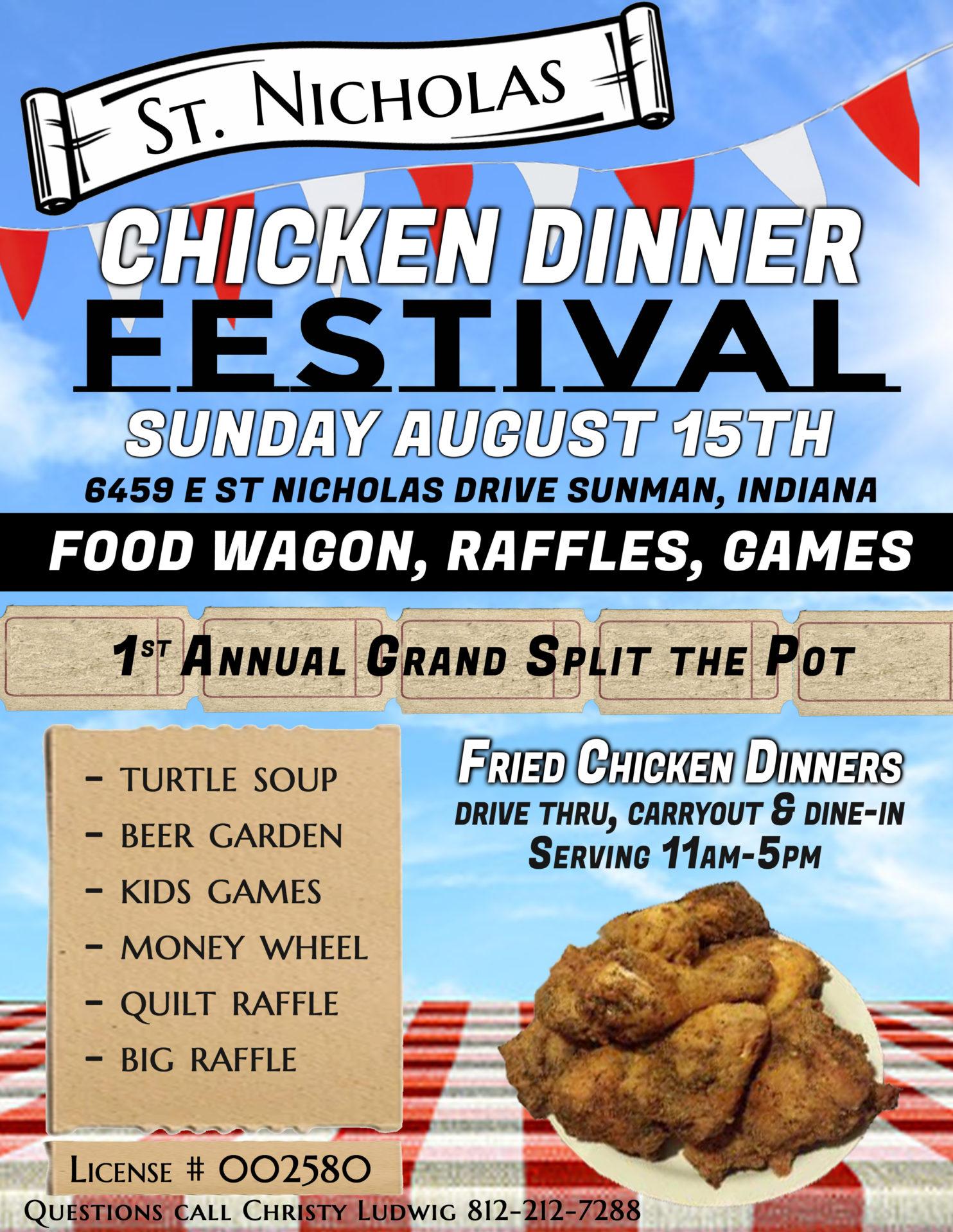 St Nicholas Chicken dinner festival
