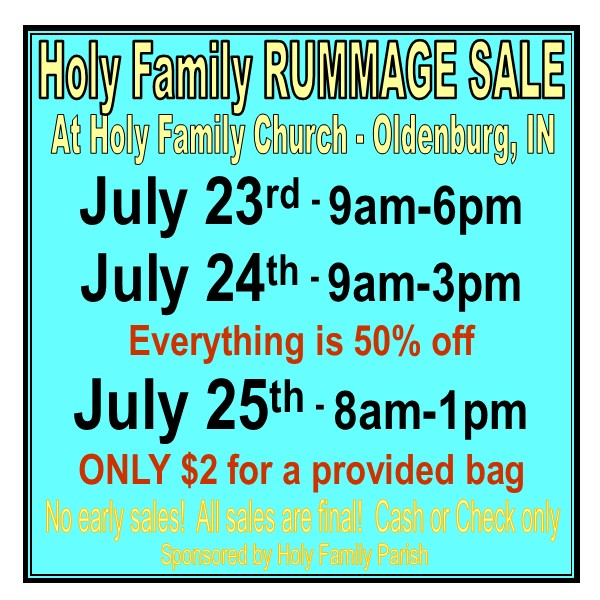 rumage sale 2021 small